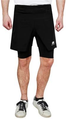 4460548f5 70% OFF on Being Human Solid Men s Black Sports Shorts on Flipkart ...