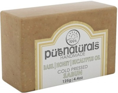 Pure Naturals Hand Made Soap Basil | Honey | Eucalyptus Oil(125 g)  available at flipkart for Rs.110