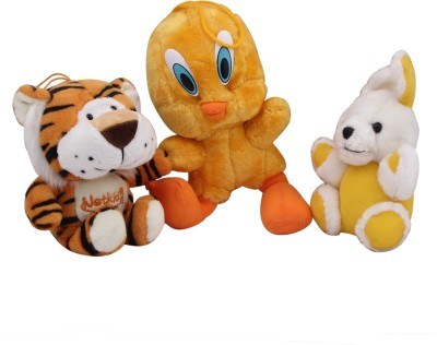 Galaxy World Tiger, Rabbit And Tweety   18 cm Multicolor Galaxy World Soft Toys