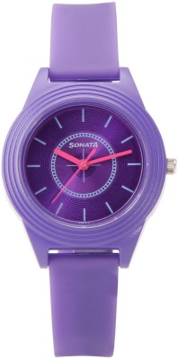 Sonata 87024PP01  Analog Watch For Girls