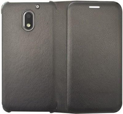 COVERNEW Flip Cover for Motorola Moto E3 Power Black COVERNEW Plain Cases   Covers