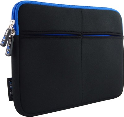 GoFree Sleeve for GoFree Slim Line Tablet Sleeve for 7 inch, 8 inch Tablets and iPad(Black w/ Azure Blue Accents, Cloth)