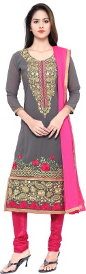 Kvsfab Georgette Embroidered Salwar Suit Dupatta Material(Un-stitched)