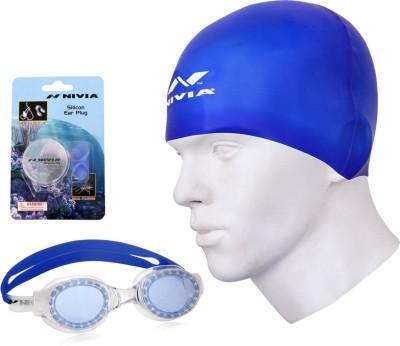 Nivia Swimming Goggle, Swimming Cap, Ear plug Swimming Kit  available at flipkart for Rs.655