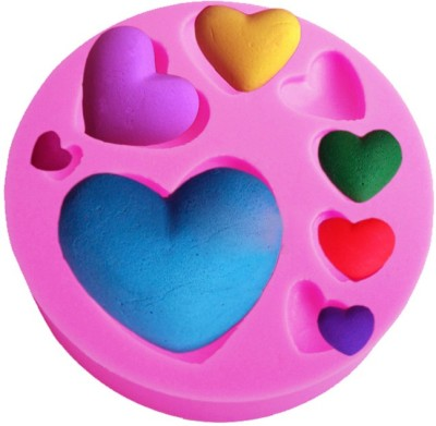 Futaba 8 Love Heart - Cup Fondant Decoration Mould(Pack of 1) at flipkart