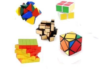 Mayatra's Combo Of Shengshou 2x2x2 Master Pyramorphix Stickerless 5x5 Wind Speed Rubik Cube Shengshou Magic Puzzle Square 3x3x3 Cube & Shengshou mirror golen cube (5 Pcs)(5 Pieces)  available at flipkart for Rs.1599