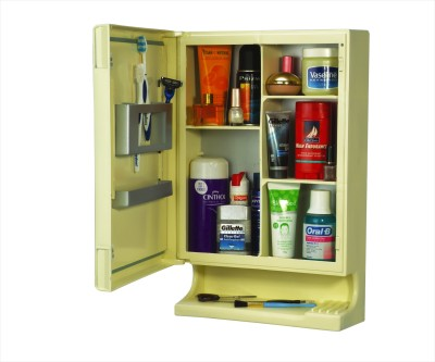 Cipla Plast New Look Mirror Cabinet Plastic Wall Shelf(Number of Shelves - 5, Multicolor)