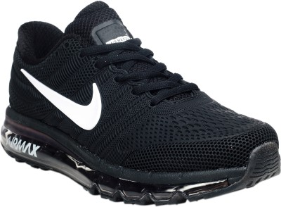 Max Air 2017 Airmax Rubber Patch Running Shoes(Black)