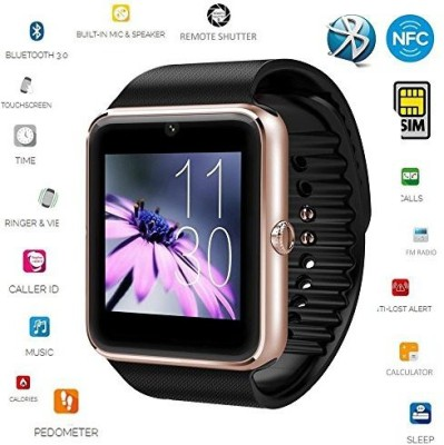 SYL Bluetooth Camera Dialing SMS Smartwatch Smartwatch(Black Strap Regular) at flipkart