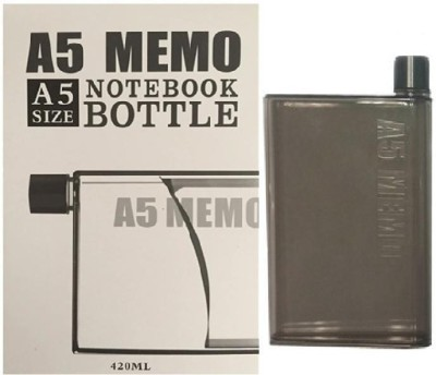 VibeX ® A-5 Memo Water Bottle 420 ml(Brown)