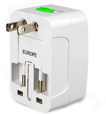 VibeX ® Universal Travel Global Charger For International Use Worldwide Adaptor White VibeX Laptop Accessories
