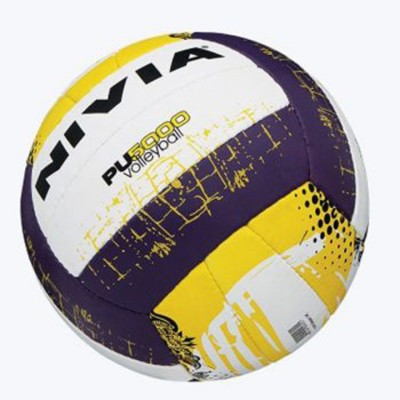 Nivia PU-5000 Volleyball - Size: 4(Pack of 1, Yellow)  available at flipkart for Rs.625