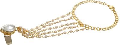 Luxor Alloy Yellow Gold Ring Bracelet at flipkart