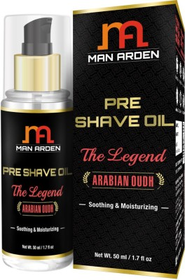 Man Arden Arabian Oudh Soothing and Moisturizing Pre Shave Oil  50 ml the Legend
