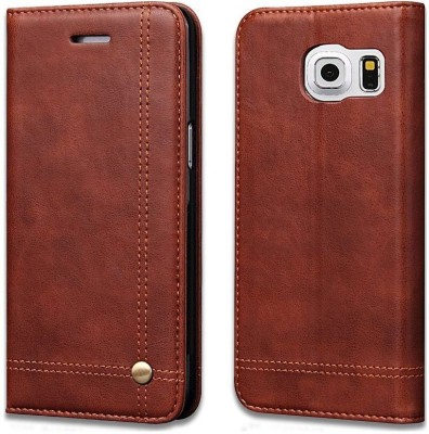 Cubix Flip Cover for Samsung Galaxy S7 Edge Brown