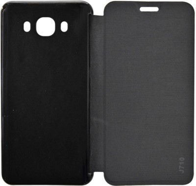 COVERNEW Flip Cover for Samsung Galaxy J7 - 6 (New 2016 Edition)(Black, Flip Cover, Artificial Leather, Plastic)