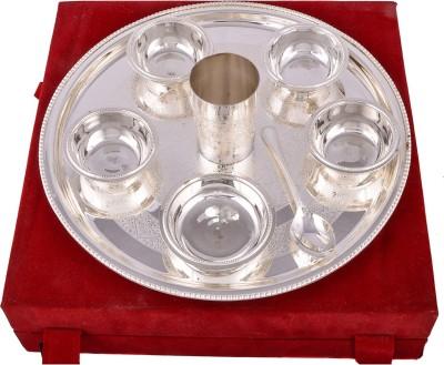 G S Museum Pack of 8 Dinner Set(Silver Plated) at flipkart