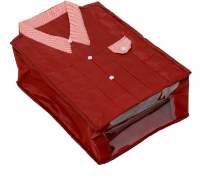KUBER INDUSTRIES Designer Large Size Shirt Cover  Soft Cotton Parachute Material  Maroon Color With Textured Dotted Border  KI3174 KI650303S Maroon KU