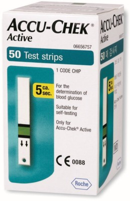 Accu-Chek Active Test Strips - 50 Glucometer  available at flipkart for Rs.740