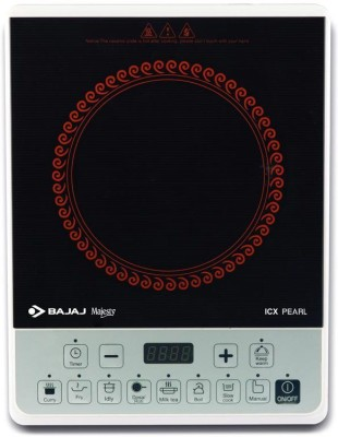 Bajaj Pearl Induction Cooktop(Black, White, Red, Push Button)