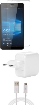 FELICITY Screen Protector Accessory Combo for Nokia Microsoft Lumia 550(Transparent)