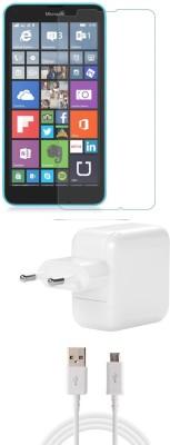 FELICITY Screen Protector Accessory Combo for Nokia Microsoft Lumia 640 Dual Sim(Transparent)