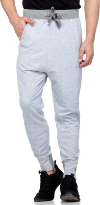 Tinted Solid Men Grey Track Pants at flipkart