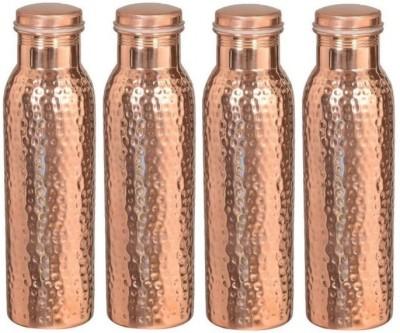 royal merchanr hammerd copper water bottle 1000 ml Bottle(Pack of 4, Brown) at flipkart