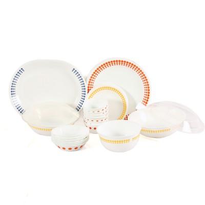 CORELLE SPOT ON Pack of 30 Dinner Set(Glass) at flipkart