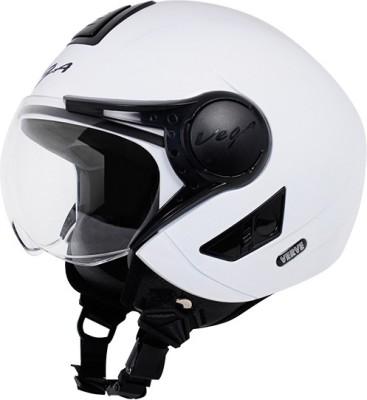 VEGA Verve Motorbike Helmet(White)