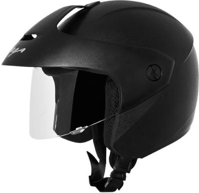 VEGA Ridge With Peak Black Helmet Motorsports Helmet(Black)