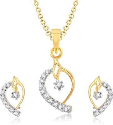 VK Jewels Alloy Jewel Set(Gold) at flipkart