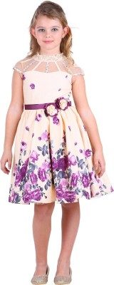 Cutecumber Girls Midi/Knee Length Party Dress(Multicolor, Sleeveless) Flipkart