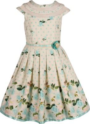 Cutecumber Girls Midi/Knee Length Party Dress(Multicolor, Cap Sleeve)