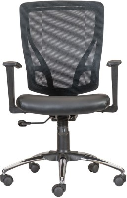 Durian GLORY/MB Leatherette Office Arm Chair(Black) at flipkart