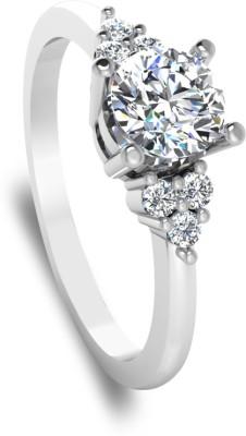 IskiUski Love Ring 14kt Swarovski Crystal White Gold ring at flipkart