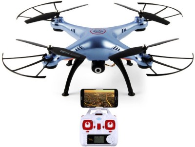SYMA X5HW FPV Live Video HD WiFi Camera Altitude & Headless Mode 4CH Quadcopter(Blue) at flipkart