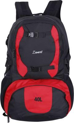Zwart DISCOVER 40 L Laptop Backpack Red, Black Zwart Backpacks