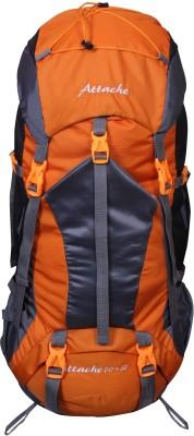 Attache 1025R Hiking Backpack (Orange) With Rain Cover … Rucksack  - 70 L(Orange, Grey) at flipkart