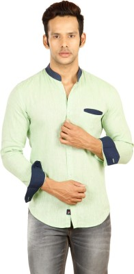 Provogue Men's Solid Casual Green Shirt at flipkart