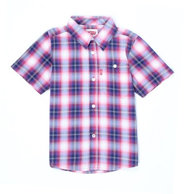 Levi's Boys Striped Casual Pink Shirt  available at flipkart for Rs.599