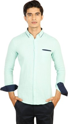 Provogue Men's Solid Casual Light Green Shirt at flipkart