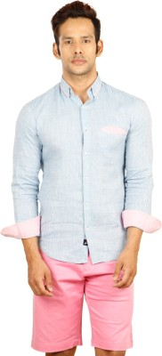 Provogue Men's Solid Casual Blue Shirt at flipkart