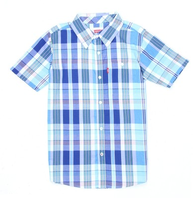 Levi's Boys Striped Casual Blue Shirt  available at flipkart for Rs.599