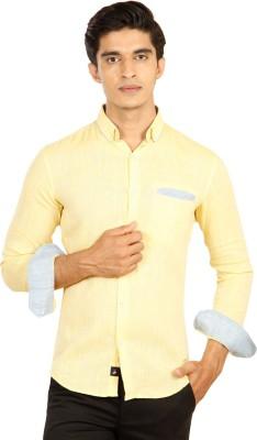 Provogue Men's Solid Casual Yellow Shirt at flipkart