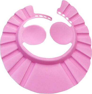 Futaba Adjustable Baby Bath Shower Cap With Ear Shield - Pink