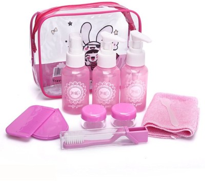 Shrih Carry Pouch With Multipurpose Travel Toiletry Kit Pink