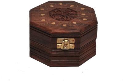 Desi Karigar Wooden Jewellery Box Jewellery Vanity Box(Brown)