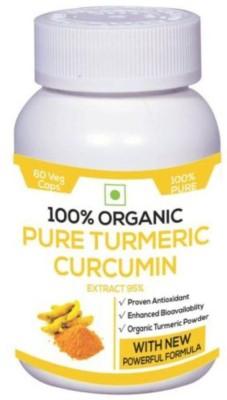 Perennial Lifesciences 100% Organic Pure Turmeric Curcumin Supplements (60 Capsules)