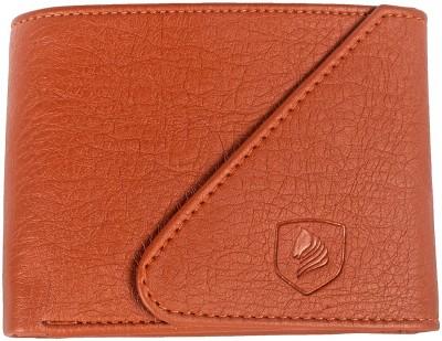 LANDER Boys Tan Artificial Leather Wallet 4 Card Slots